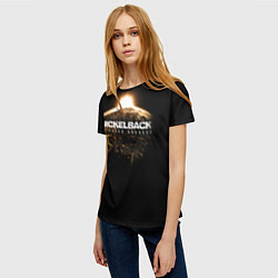 Футболка женская Nickelback: No fixed address цвета 3D — фото 2