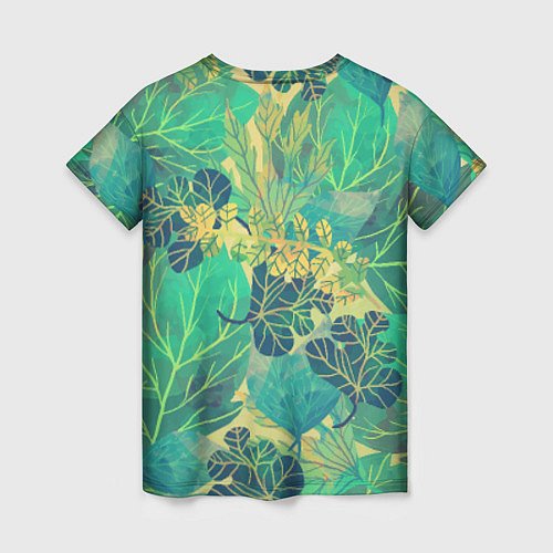 Женская футболка Узор из листьев / 3D – фото 2