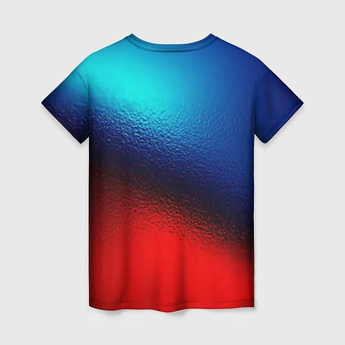 Женская футболка Синий и красный / 3D-принт – фото 2