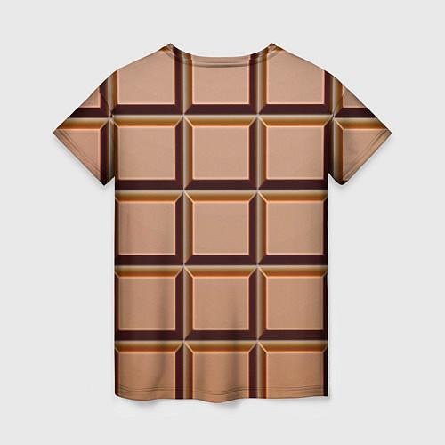 Женская футболка Шоколад / 3D – фото 2