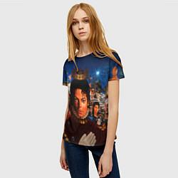 Футболка женская Michael Jackson: Pop King цвета 3D-принт — фото 2
