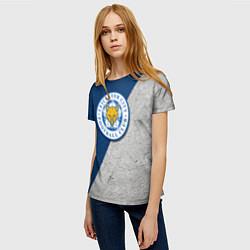 Футболка женская Leicester City FC цвета 3D — фото 2