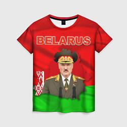 Футболка женская Belarus: Lukashenko цвета 3D-принт — фото 1