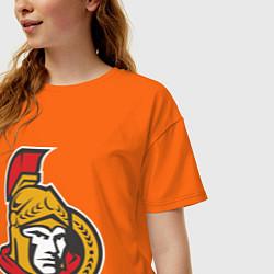Футболка оверсайз женская Ottawa Senators цвета оранжевый — фото 2