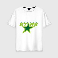 Футболка оверсайз женская Dallas Stars цвета белый — фото 1
