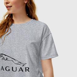 Футболка оверсайз женская Jaguar цвета меланж — фото 2