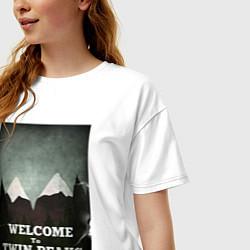 Футболка оверсайз женская Welcome to Twin Peaks цвета белый — фото 2