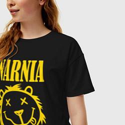 Футболка оверсайз женская Narnia цвета черный — фото 2