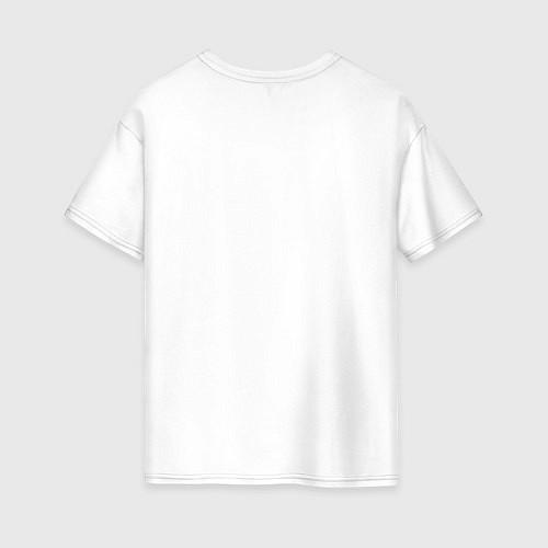 Женская футболка оверсайз Ежик на велосипеде / Белый – фото 2