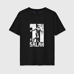 Футболка оверсайз женская Salah 11 цвета черный — фото 1