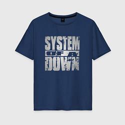 Футболка оверсайз женская System of a Down цвета тёмно-синий — фото 1