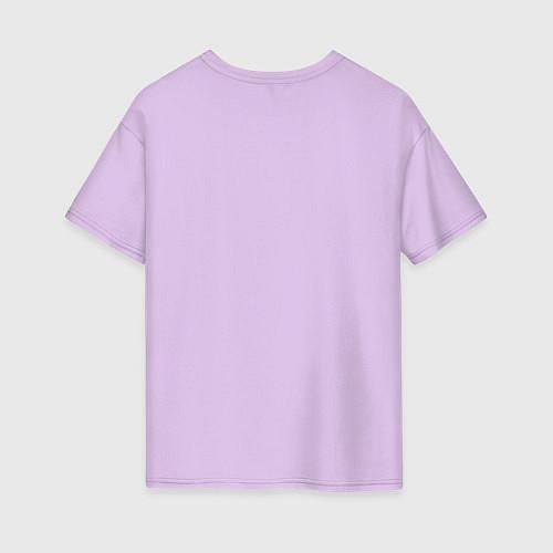 Женская футболка оверсайз Её лучшая подруга / Лаванда – фото 2