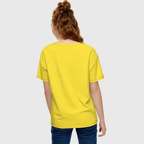 Женская футболка оверсайз Моя лучшая подруга / Желтый – фото 4
