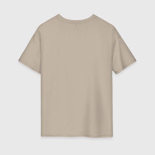 Женская футболка оверсайз Подруги навеки / Миндальный – фото 2
