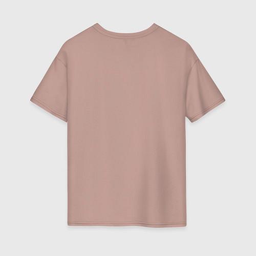 Женская футболка оверсайз Да, я с ней / Пыльно-розовый – фото 2