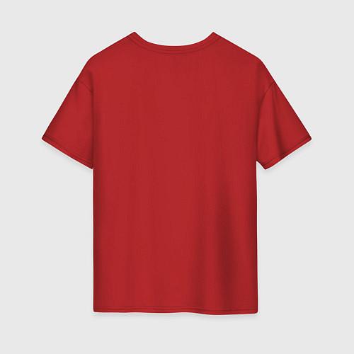 Женская футболка оверсайз The Beatles Revolution / Красный – фото 2
