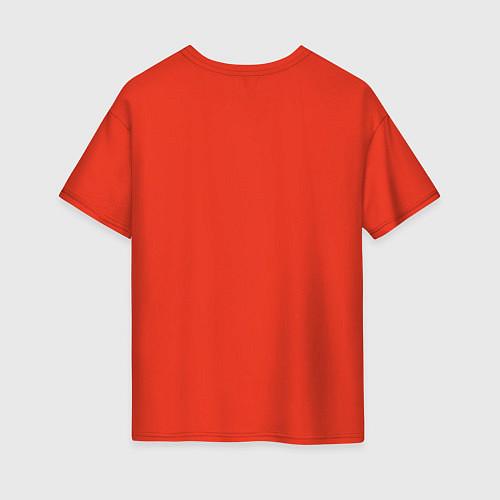 Женская футболка оверсайз The Beatles faces / Рябиновый – фото 2