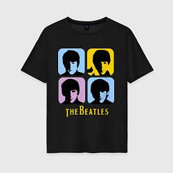 Женская футболка оверсайз The Beatles: pop-art