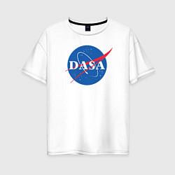 Футболка оверсайз женская NASA: Dasa цвета белый — фото 1