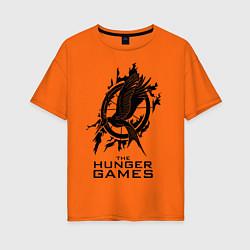 Футболка оверсайз женская The Hunger Games цвета оранжевый — фото 1