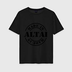 Футболка оверсайз женская Made in Altai цвета черный — фото 1