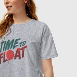 Футболка оверсайз женская Time to float цвета меланж — фото 2