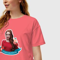 Футболка оверсайз женская CHERYL BLOSSOM цвета коралловый — фото 2
