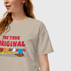 Футболка длинная женская The true original - фото 2