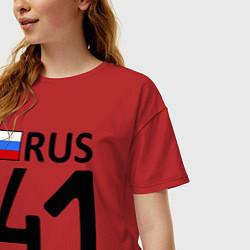 Футболка оверсайз женская RUS 41 цвета красный — фото 2
