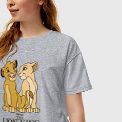Футболка оверсайз женская Simba & Nala цвета меланж — фото 2