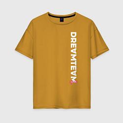 Футболка оверсайз женская DreamTeam цвета горчичный — фото 1