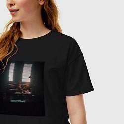 Футболка оверсайз женская Скриптонит Чистый цвета черный — фото 2