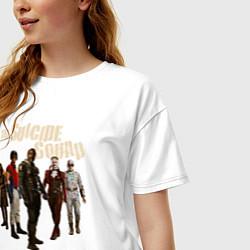 Футболка оверсайз женская The Suicide Squad цвета белый — фото 2