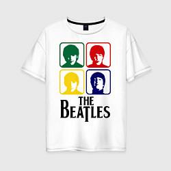 Футболка оверсайз женская The Beatles: Colors цвета белый — фото 1