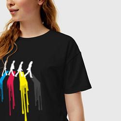 Футболка оверсайз женская Abbey Road Colors цвета черный — фото 2