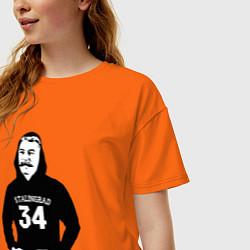 Футболка оверсайз женская Stalingrad 34 цвета оранжевый — фото 2