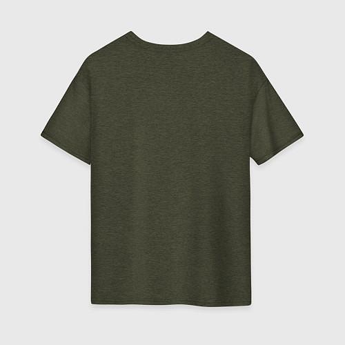 Женская футболка оверсайз Soul Eater: White / Меланж-хаки – фото 2