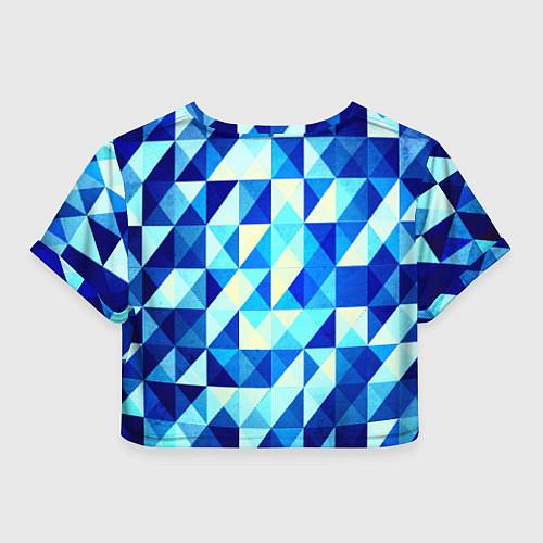 Женский топ Синяя геометрия / 3D – фото 2