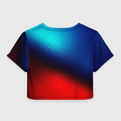 Женский топ Синий и красный / 3D – фото 2