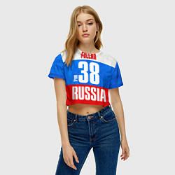 Футболка 3D укороченная женская Russia: from 38 цвета 3D — фото 2