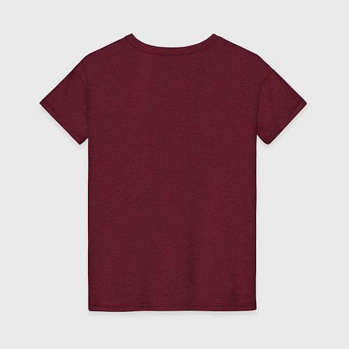 Женская футболка Crimea / Меланж-бордовый – фото 2