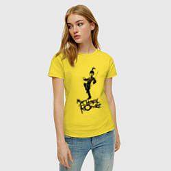 Футболка хлопковая женская My Chemical Romance цвета желтый — фото 2