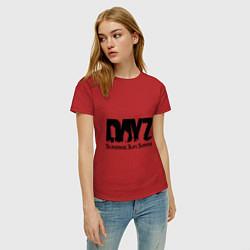 Футболка хлопковая женская DayZ: Slay Survive цвета красный — фото 2