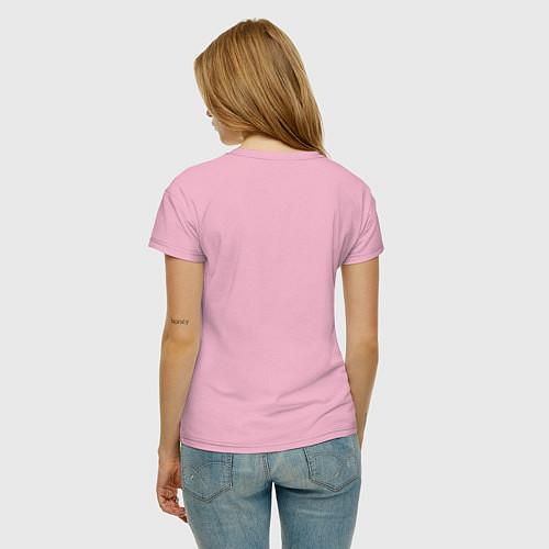 Женская футболка Моя лучшая подруга / Светло-розовый – фото 4