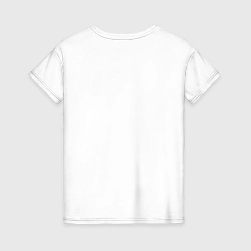 Женская футболка Да, я с ней / Белый – фото 2