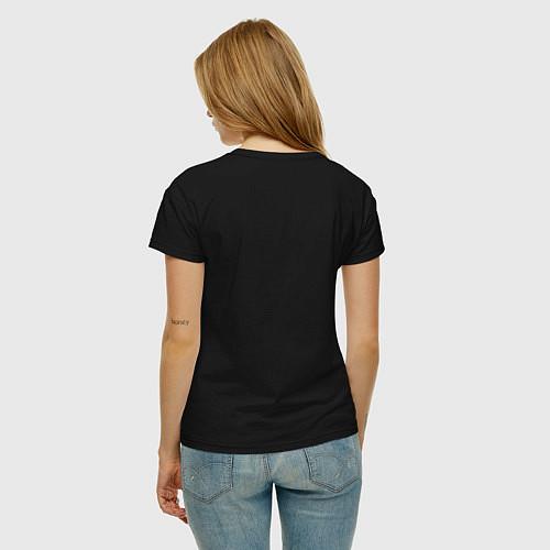 Женская футболка Ржём до утра / Черный – фото 4