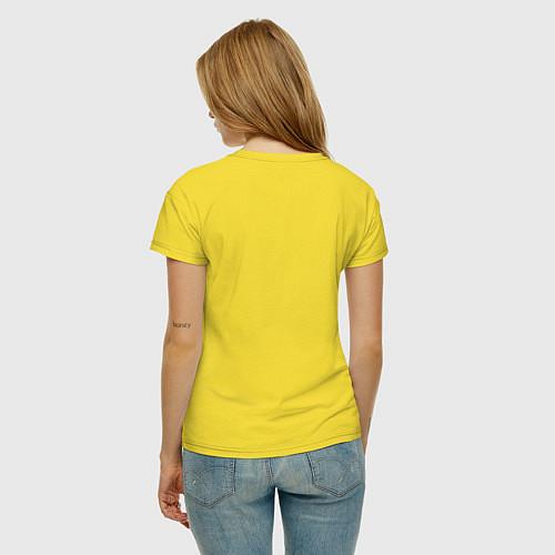 Женская футболка The Beatles faces / Желтый – фото 4