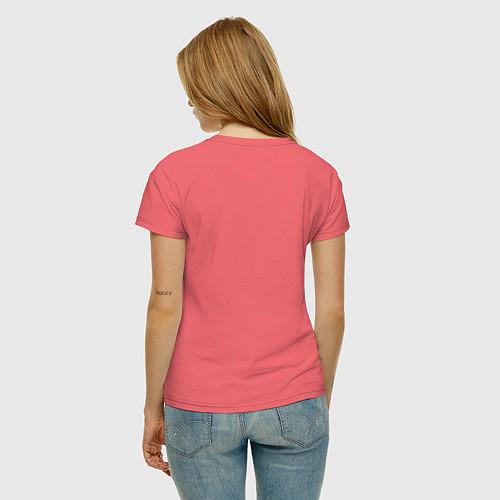 Женская футболка Zombies hand / Коралловый – фото 4