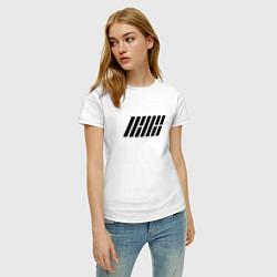 Футболка хлопковая женская IKON цвета белый — фото 2