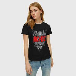 Футболка хлопковая женская AC/DC: Black Ice цвета черный — фото 2